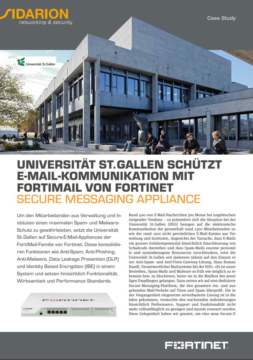 Success Story Universität St. Gallen - FortiMail